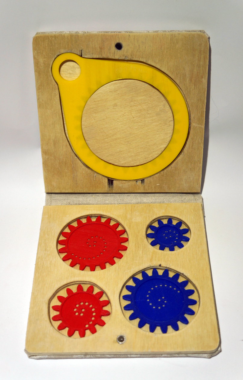 Spirograph box open upright
