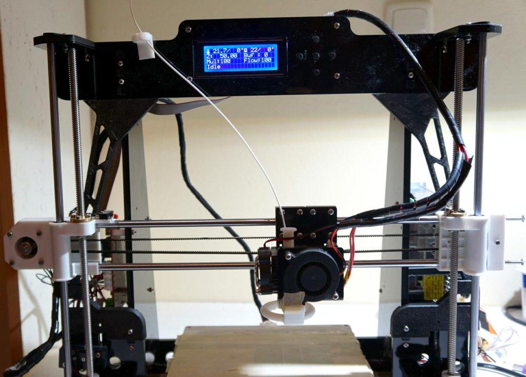 My assembled ANET A8 3D printer.